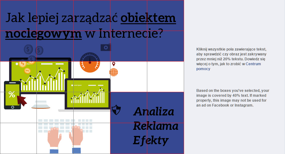 reklama fb 40 procent pokrycia tekstu