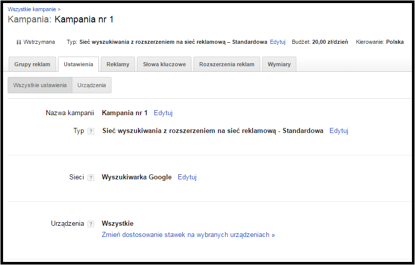 kampania google adwords