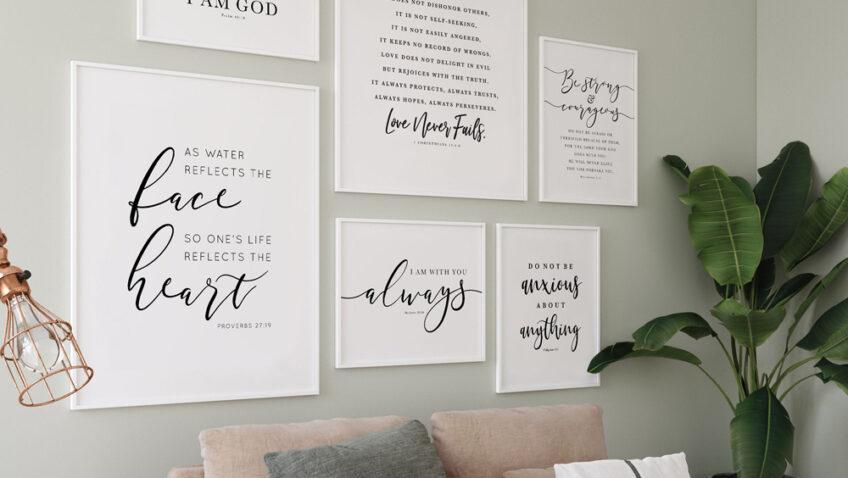 Plakaty z cytatami do twojego mieszkania